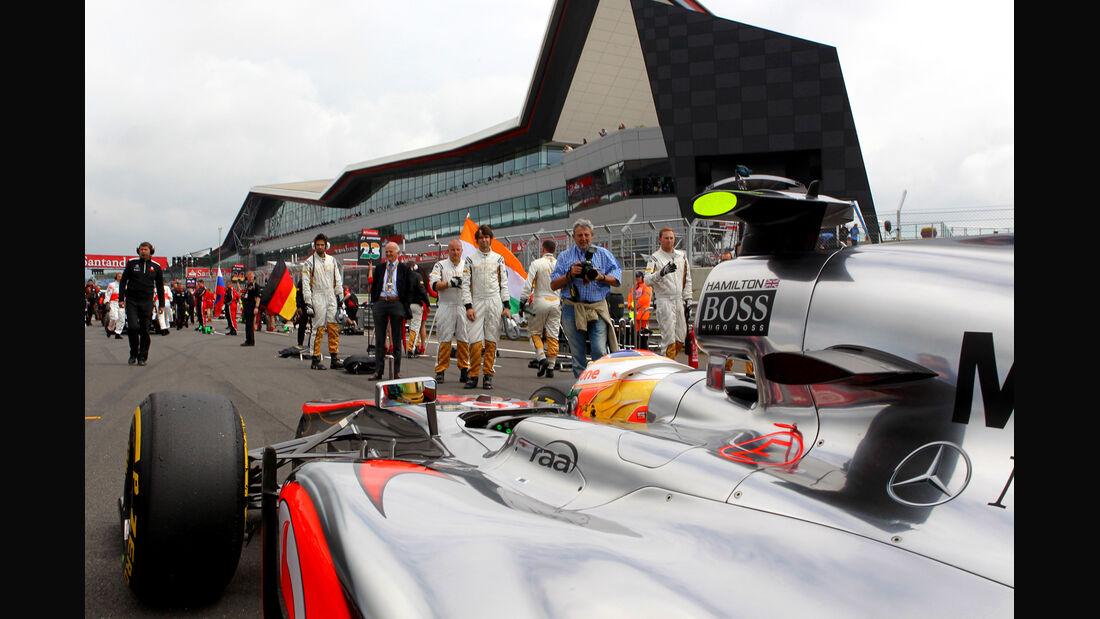 Lewis Hamilton McLaren GP England 2012