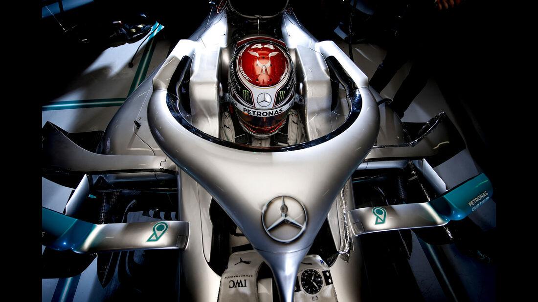 Lewis Hamilton - Mercedes - Barcelona - F1-Test - 19. Februar 2019