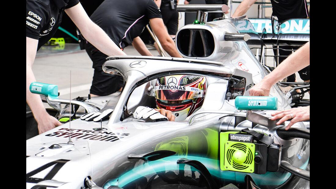 Lewis Hamilton - Mercedes - F1-Test - Bahrain - 2. April 2019