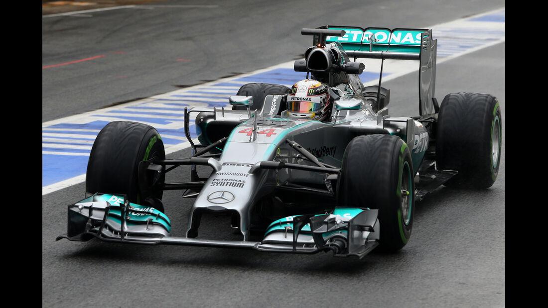 Lewis Hamilton - Mercedes - F1 Test Barcelona (1) - 13. Mai 2014