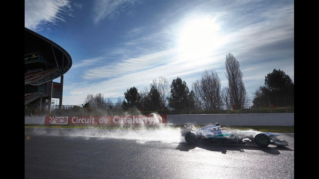 Lewis Hamilton Mercedes F1 Test Barcelona 2013