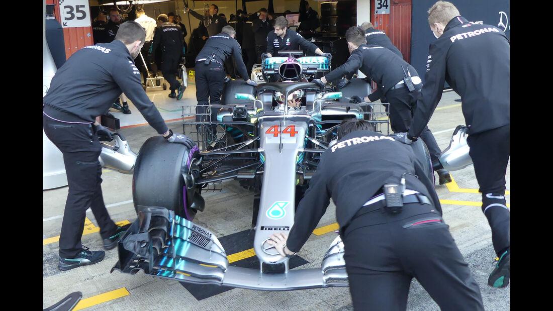 Lewis Hamilton - Mercedes - F1-Test - Barcelona - Tag 8 - 9. März 2018