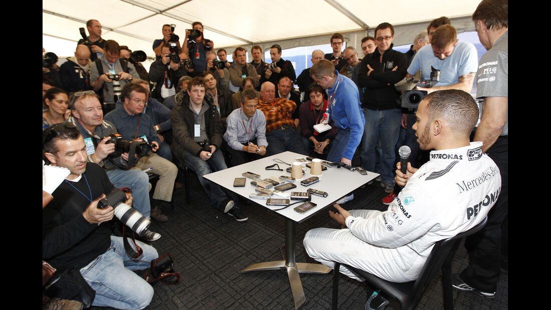 Lewis Hamilton Mercedes F1 Test Jerez 2013 Highlights