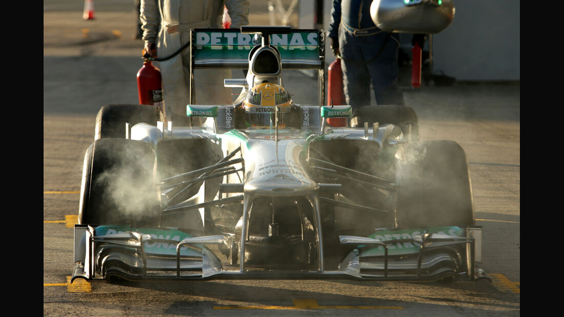 Lewis Hamilton Mercedes F1 Test Jerez 2013 Highlights