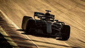 Lewis Hamilton - Mercedes - F1 - Testfahrten - Barcelona 2018