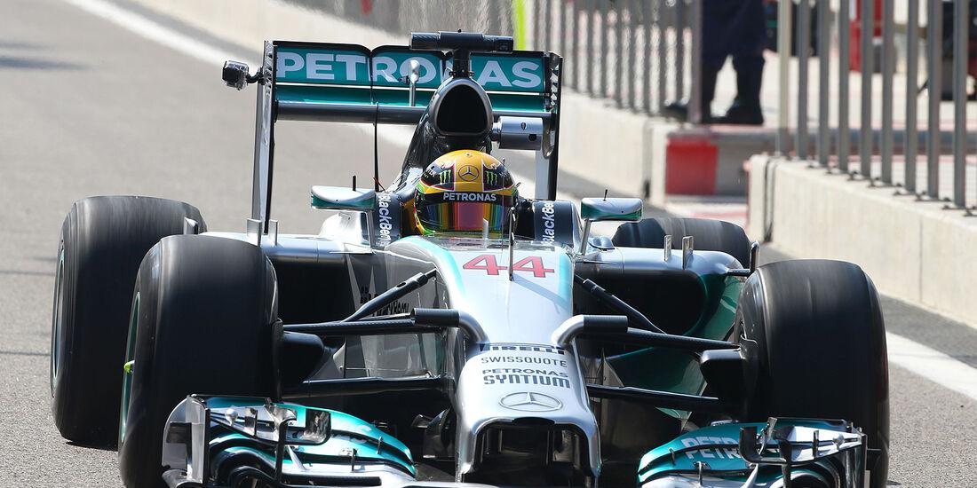 Lewis Hamilton - Mercedes - Formel 1 - Bahrain - Test - 19. Februar 2014