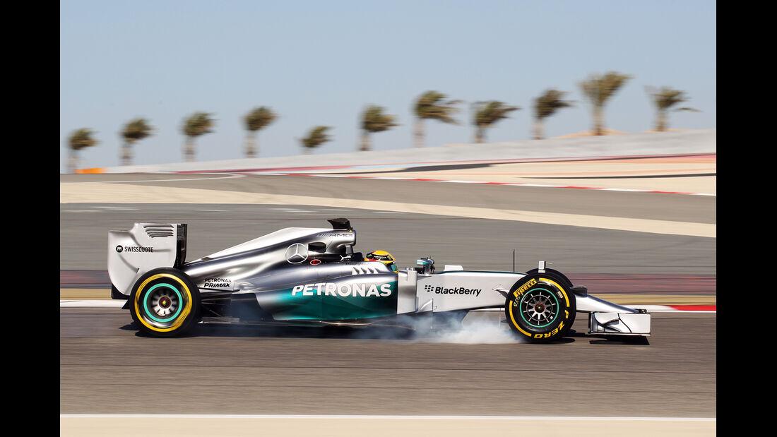 Lewis Hamilton - Mercedes - Formel 1 - Bahrain-Test 2014