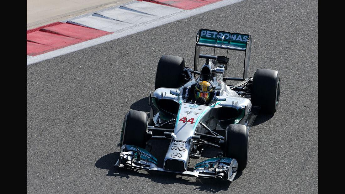 Lewis Hamilton - Mercedes - Formel 1 - Bahrain - Test - 21. Februar 2014