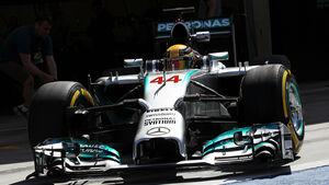 Lewis Hamilton - Mercedes - Formel 1- Bahrain - Test - 21. Februar 2014