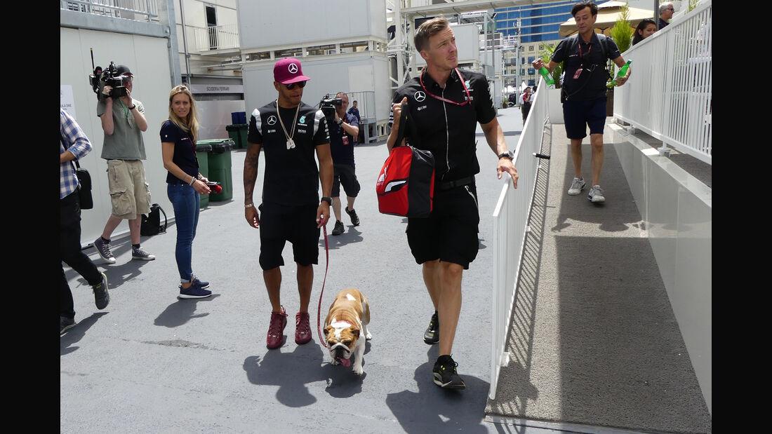 Lewis Hamilton - Mercedes - Formel 1 - GP Aserbaidschan - Baku - 16. Juni 2016
