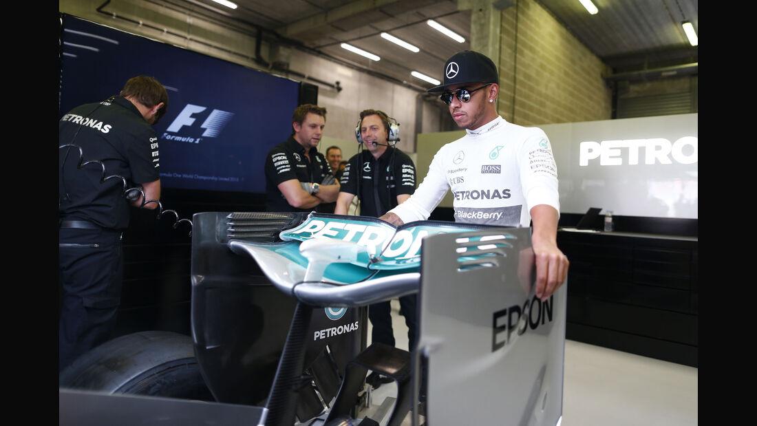 Lewis Hamilton - Mercedes - Formel 1 - GP Belgien - Spa-Francorchamps - 22. August 2015