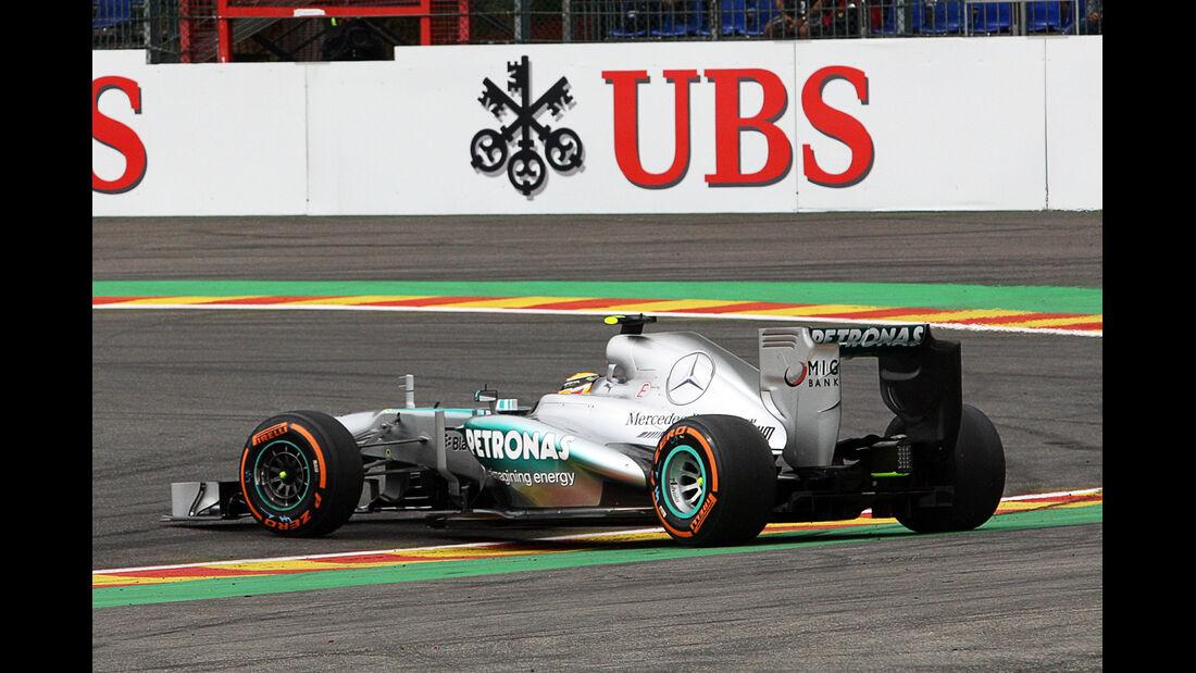 Lewis Hamilton - Mercedes - Formel 1 - GP Belgien - Spa-Francorchamps - 24. August 2013
