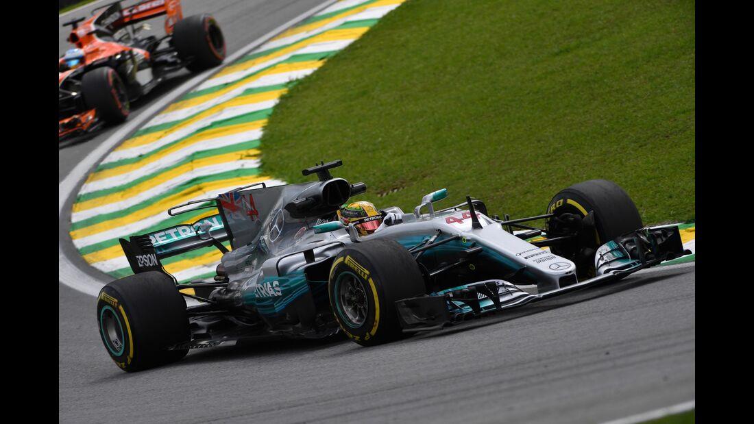 Lewis Hamilton - Mercedes - Formel 1 - GP Brasilien - 10. November 2017