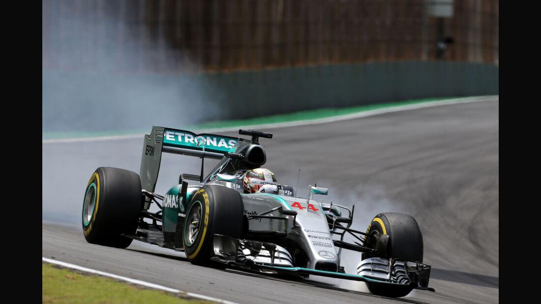 Lewis Hamilton - Mercedes - Formel 1 - GP Brasilien- 15. November 2015