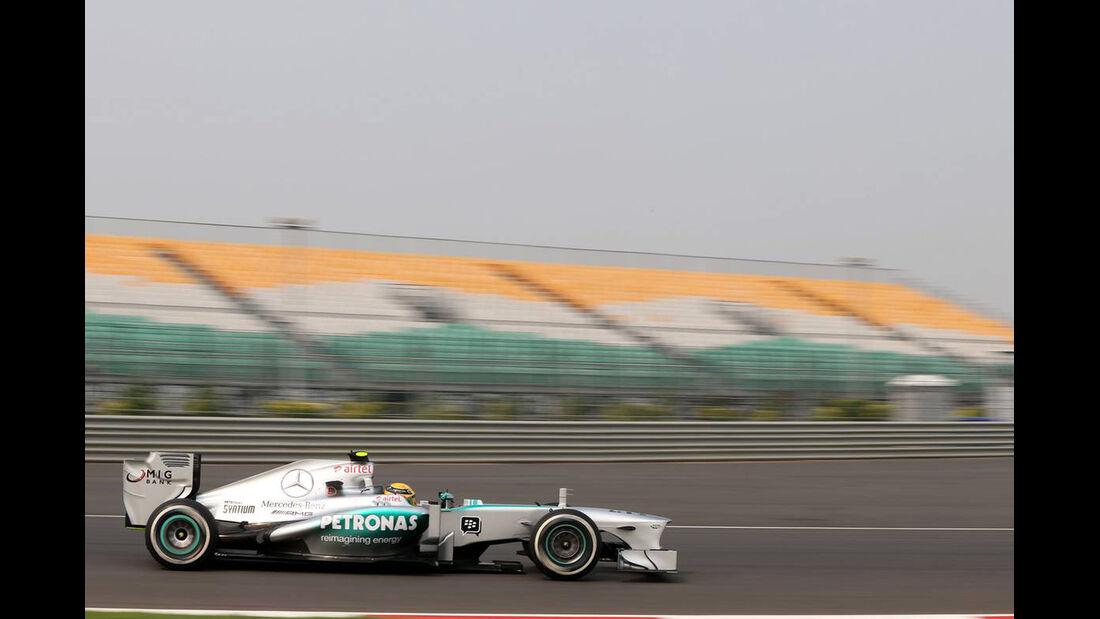 Lewis Hamilton - Mercedes  - Formel 1 - GP Indien - 25. Oktober 2013