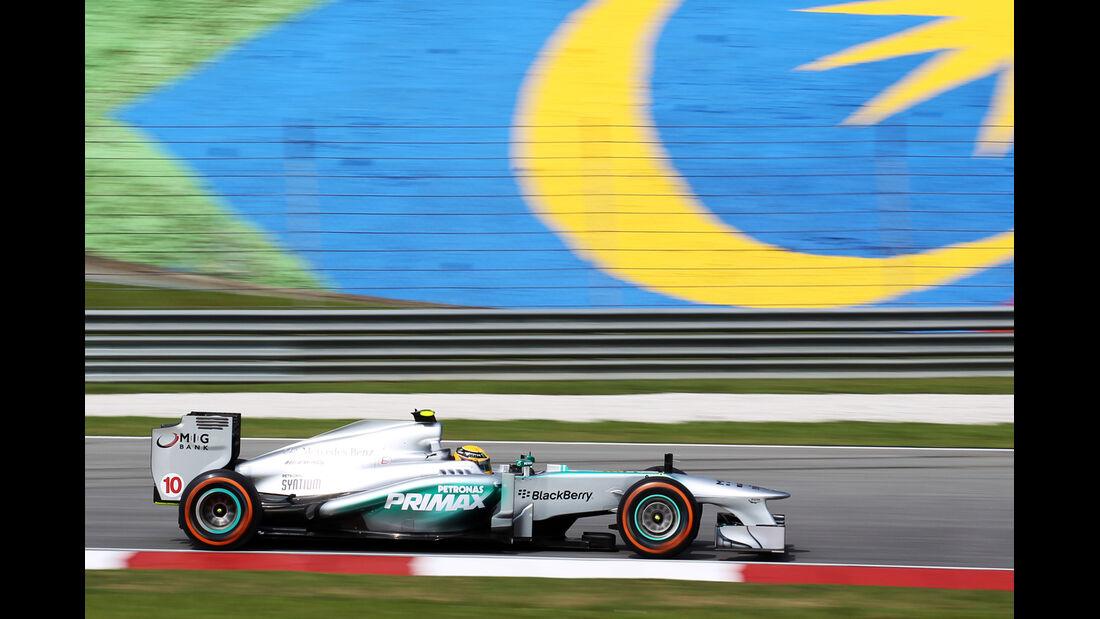 Lewis Hamilton - Mercedes - Formel 1 - GP Malaysia - 22. März 2013