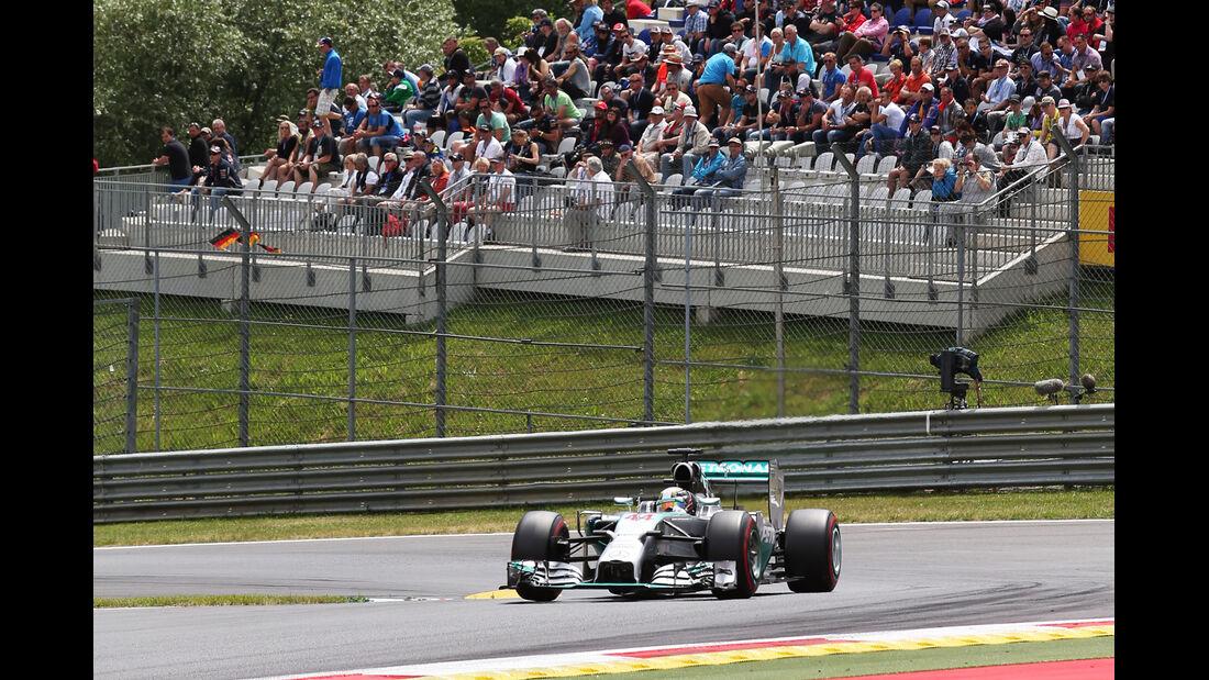 Lewis Hamilton - Mercedes - Formel 1 - GP Österreich - Spielberg - 21. Juni 2014