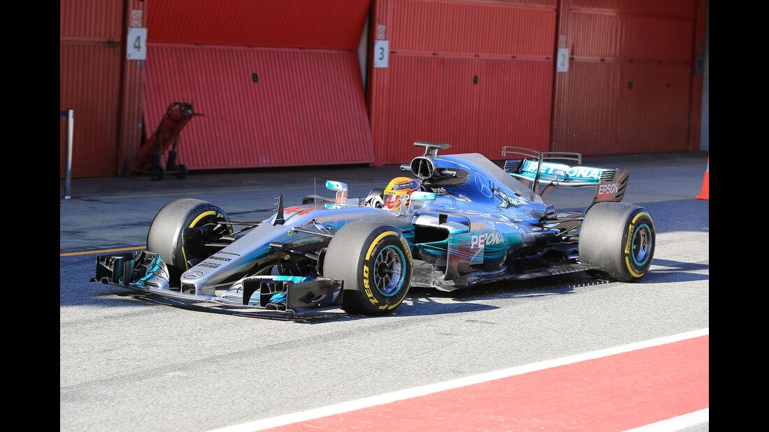 Lewis Hamilton - Mercedes - Formel 1 - Test - Barcelona - 1. März 2017
