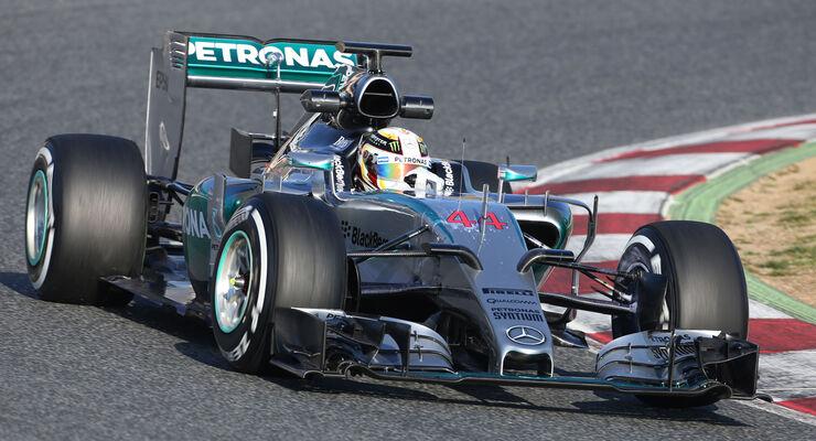 Lewis Hamilton - Mercedes - Formel 1-Test - Barcelona - 19. Februar 2015