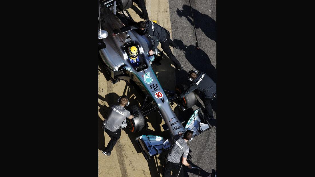 Lewis Hamilton, Mercedes, Formel 1-Test, Barcelona, 20. Februar 2013