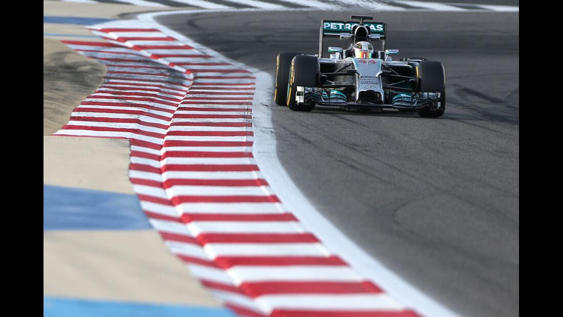 Lewis Hamilton - Mercedes - Formel 1 - Test - GP Bahrain - 9. April 2014