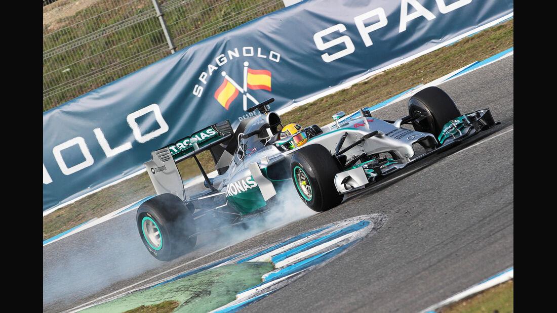 Lewis Hamilton - Mercedes - Formel 1 - Test - Jerez - 28. Januar 2014