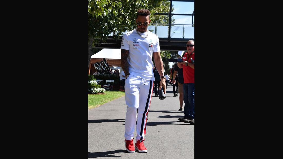 Lewis Hamilton - Mercedes - GP Australien 2018 - Melbourne - Albert Park - Donnerstag - 22.3.2018