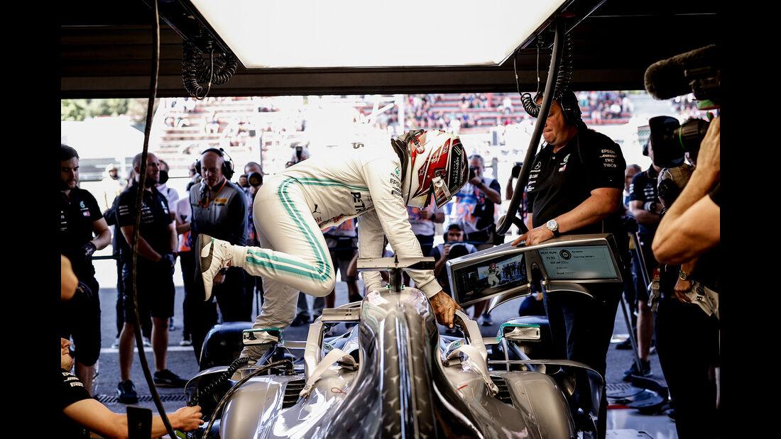 Lewis Hamilton - Mercedes - GP Belgien - Spa-Francorchamps - Formel 1 - Freitag - 30.8.2019