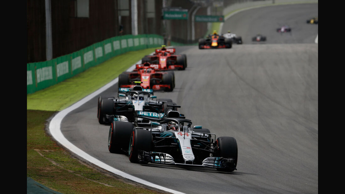 Lewis Hamilton - Mercedes - GP Brasilien 2018 - Rennen
