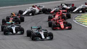 Lewis Hamilton - Mercedes - GP Brasilien 2018