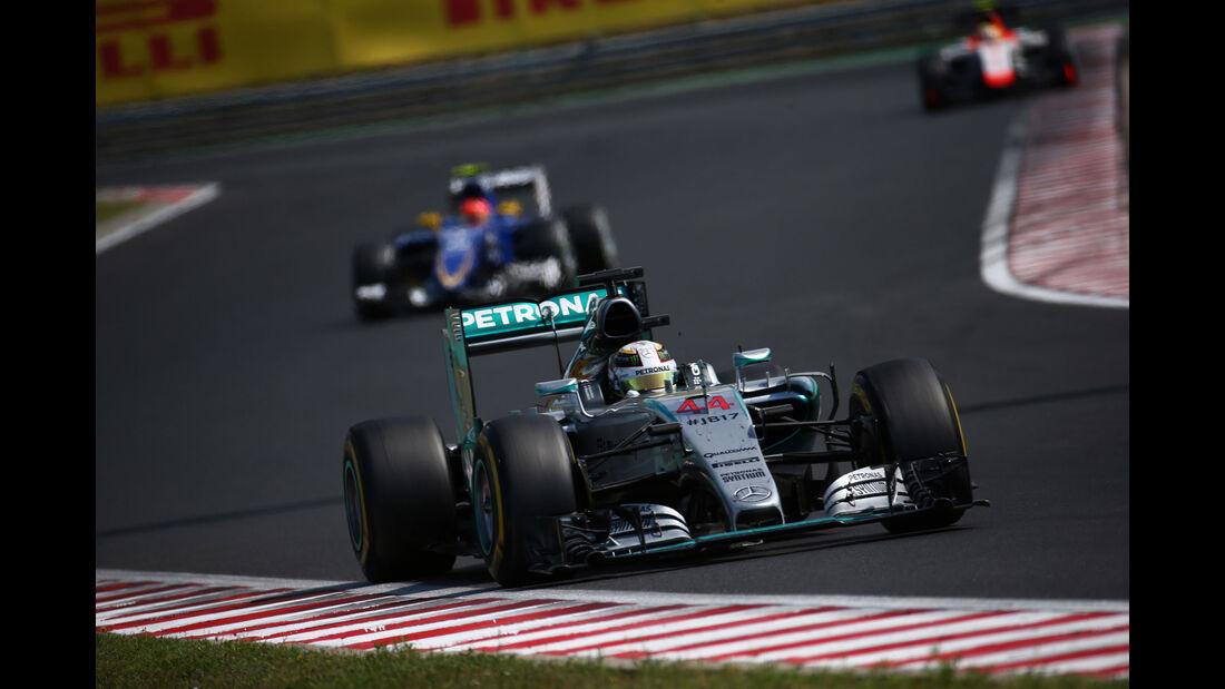 Lewis Hamilton - Mercedes - GP Ungarn - Budapest - Rennen - Sonntag - 26.7.2015