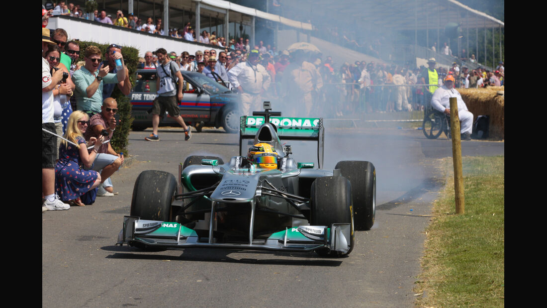 Lewis Hamilton - Mercedes - Goodwood 2013