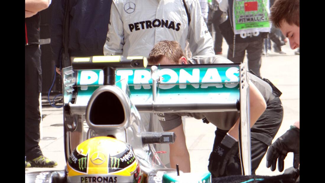 Lewis Hamilton - Mercedes Heckflügel - Formel 1 - GP China - 12. April 2013