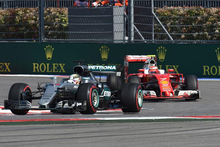 Lewis Hamilton - Mercedes - Kimi Räikkönen - Ferrari - GP Russland 2016