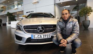 Lewis Hamilton Mercedes Museum 2013