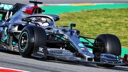 Lewis Hamilton - Mercedes - Pirelli - Formel 1 - Testfahrten - Barcelona - 26.2.2020
