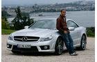 Lewis Hamilton Mercedes SL AMG Genf