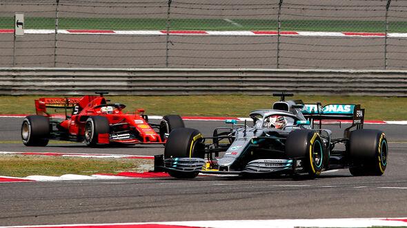 Lewis Hamilton - Mercedes - Sebastian Vettel - Ferrari - GP China 2019  - Shanghai