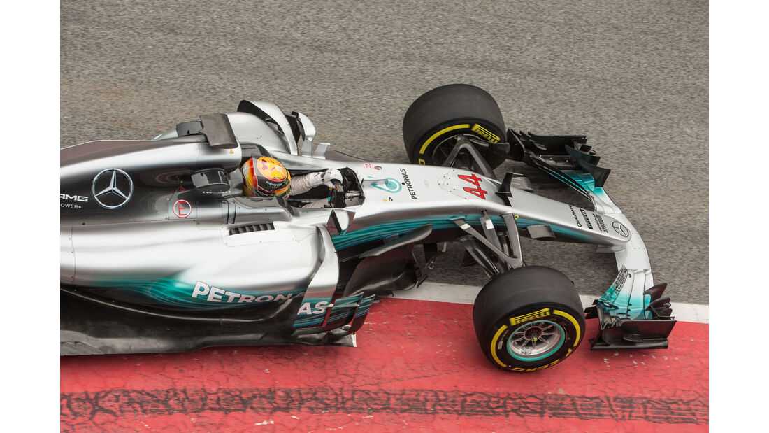 Lewis Hamilton - Mercedes W08 - Barcelona - Testfahrten