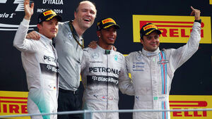Lewis Hamilton Nico Rosberg Felipe Massa Formel 1 GP Italien 7. September 2014