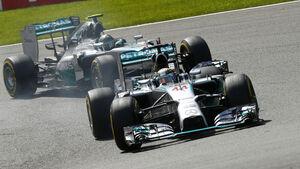 Lewis Hamilton & Nico Rosberg - GP Belgien 2014