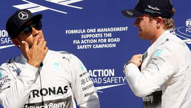Lewis Hamilton & Nico Rosberg - GP Italien 2014