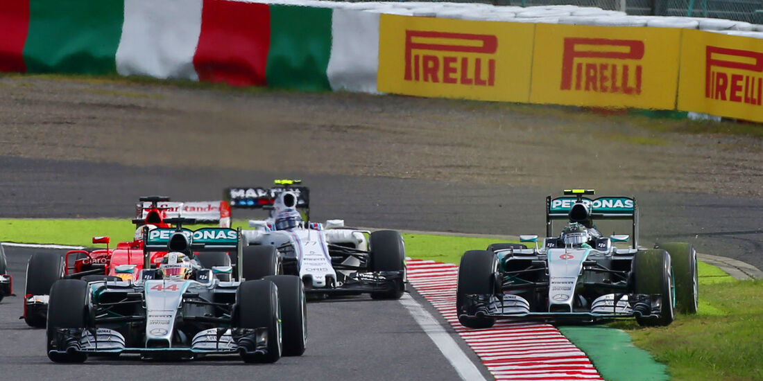 Lewis Hamilton & Nico Rosberg - GP Japan 2015