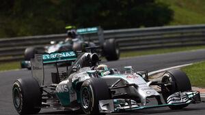 Lewis Hamilton Nico Rosberg GP Ungarn 2014