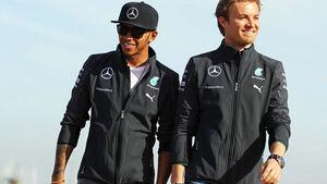 Lewis Hamilton - Nico Rosberg - Mercedes - Formel 1 - GP Australien - 13. März 2014