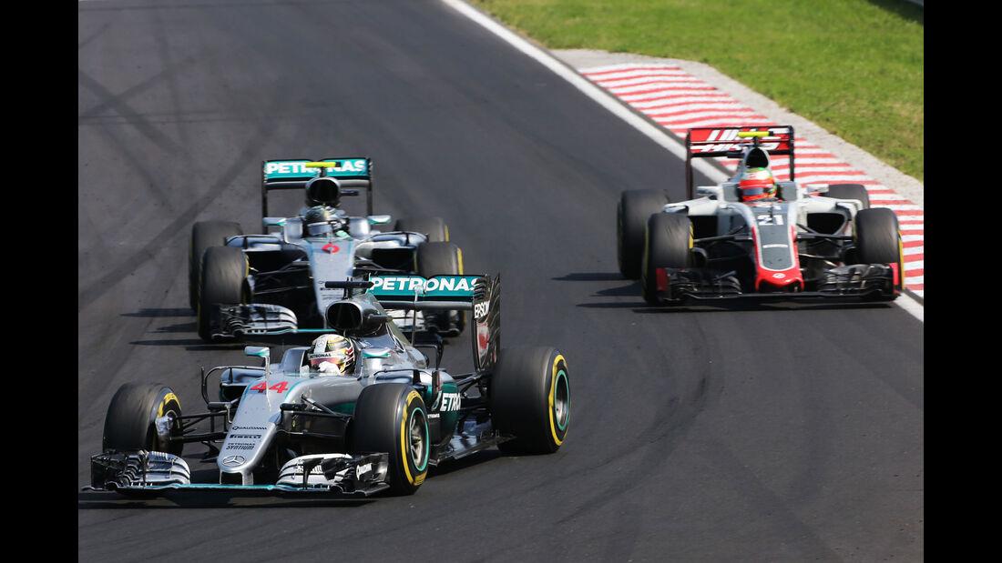 Lewis Hamilton - Nico Rosberg - Mercedes - Formel 1 - GP Ungarn - 24. Juli 2016