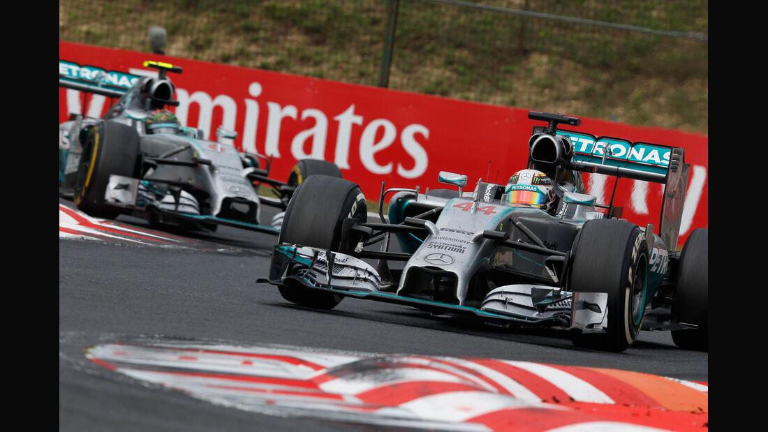 Lewis Hamilton - Nico Rosberg - Mercedes - Formel 1 - GP Ungarn - 27. Juli 2014