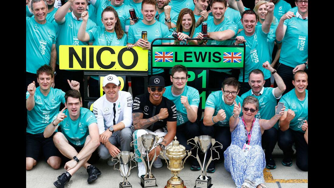 Lewis Hamilton - Nico Rosberg - Mercedes - GP England - Silverstone - Rennen - Sonntag - 5.7.2015
