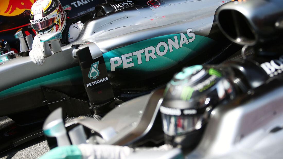 Lewis Hamilton - Nico Rosberg - Mercedes - GP Spanien 2016 - Qualifying - Samstag - 14.5.2016