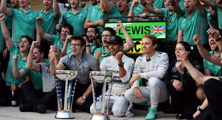 Lewis Hamilton - Nico Rosberg - Mercedes - GP USA - Formel 1 - 2. November 2014